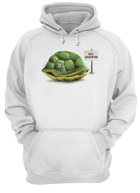 Stay Home Green Turtle Shirt Unisex Hoodie