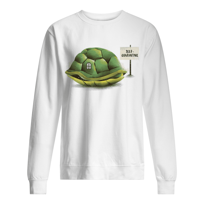 Stay Home Green Turtle Shirt Unisex Sweatshirt