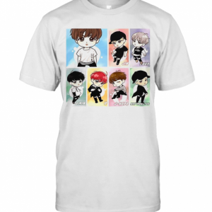 BTS New Cartoon T-Shirt Classic Men's T-shirt