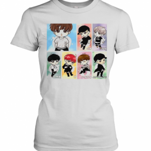 BTS New Cartoon T-Shirt Classic Women's T-shirt