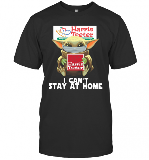 Baby Yoda Face Mask Harris Teeter Can't Stay At Home T-Shirt Classic Men's T-shirt