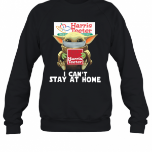 Baby Yoda Face Mask Harris Teeter Can't Stay At Home T-Shirt Unisex Sweatshirt