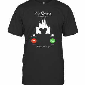 Disney The Castle Is Calling And I Must Go T-Shirt Classic Men's T-shirt