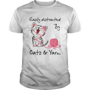 Easily Distracted By Cats And Yarn Crochet Cat  Unisex