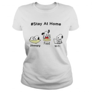Snoopy Stay At Home Sleeepig Food and Wifi  Classic Ladies