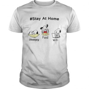 Snoopy Stay At Home Sleeepig Food and Wifi  Unisex