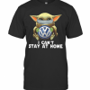 Star Wars Baby Yoda Mask Hug Volkswagen Can'T Stay At Home T-Shirt Classic Men's T-shirt