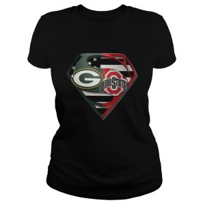 1588599669Green Bay Packers And Ohio State Superman  Classic Ladies