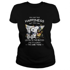 1589624430Snoopy You cab't buy happiness but you can listen to the beatles  Classic Ladies