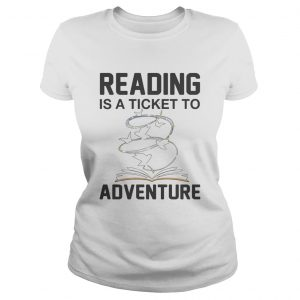 Book reading is a ticket to adventure  Classic Ladies