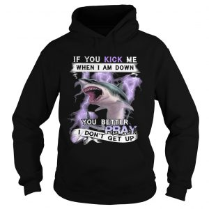 If you kick me when I am down you better pray I dont get up shark  Hoodie