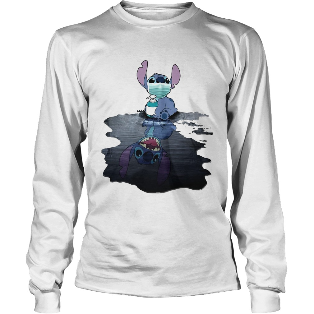 Stitch mask hug soap domestic mirror stitch smile  Long Sleeve