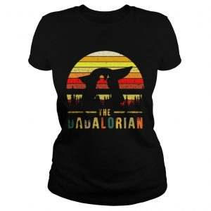The Dadalorian Definition Fathers Day Vintage Sunset  Classic Ladies