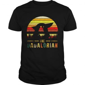 The Dadalorian Definition Fathers Day Vintage Sunset  Unisex