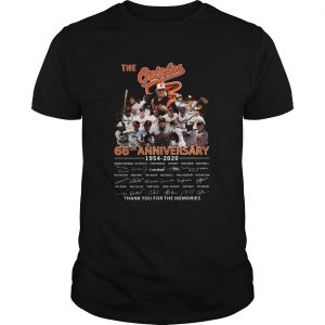 The Orioles 66th Anniversary 1954 2020 Signature Thank You For The Memories  Unisex