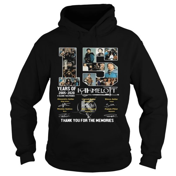 15 years of 2005 2020 6 seasons 458 episodes kaamelott thank you for the memories signatures  Hoodie