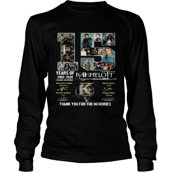15 years of 2005 2020 6 seasons 458 episodes kaamelott thank you for the memories signatures  Long Sleeve