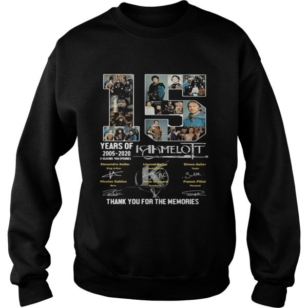 15 years of 2005 2020 6 seasons 458 episodes kaamelott thank you for the memories signatures  Sweatshirt