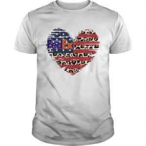 FedEx heart American flag veteran Independence Day  Unisex