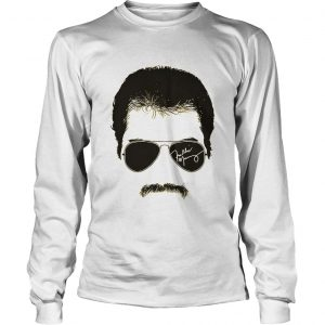 Freddie mercury face signature tee 1970s british rock band  Long Sleeve