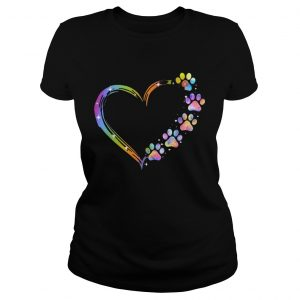 LGBT Paw Dog Heart  Classic Ladies