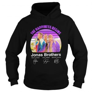 The Happiness Begins Jonas Brothers Signatures  Hoodie