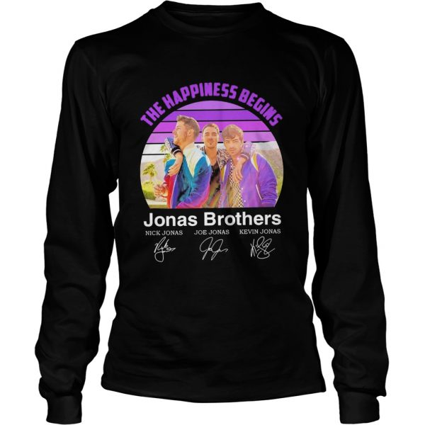The Happiness Begins Jonas Brothers Signatures  Long Sleeve