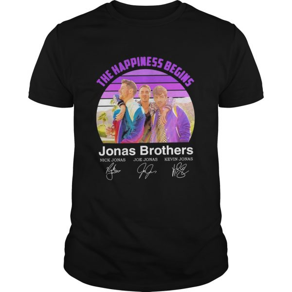 The Happiness Begins Jonas Brothers Signatures  Unisex
