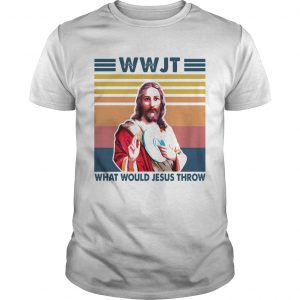 Wwjt What Would Jesus Throw Vintage Version  Unisex