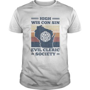 High Wis Con Sin Evil Cleric Society Game Vintage Retro  Unisex