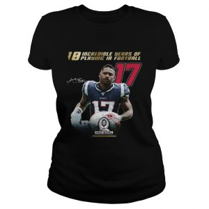10 incredible years of laying in football 17 antonio brown new england patriots signature  Classic Ladies