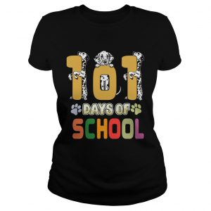 101 Days Of School Dalmation Dog Teachers Gift  Classic Ladies