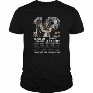 12 Years Of 2008 2020 Sons Of Anarchy Thank You For The Memories Signature  Classic Men's T-shirt