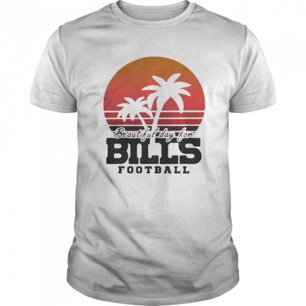 Beautiful day for bills football vintage retro  Classic Men's T-shirt
