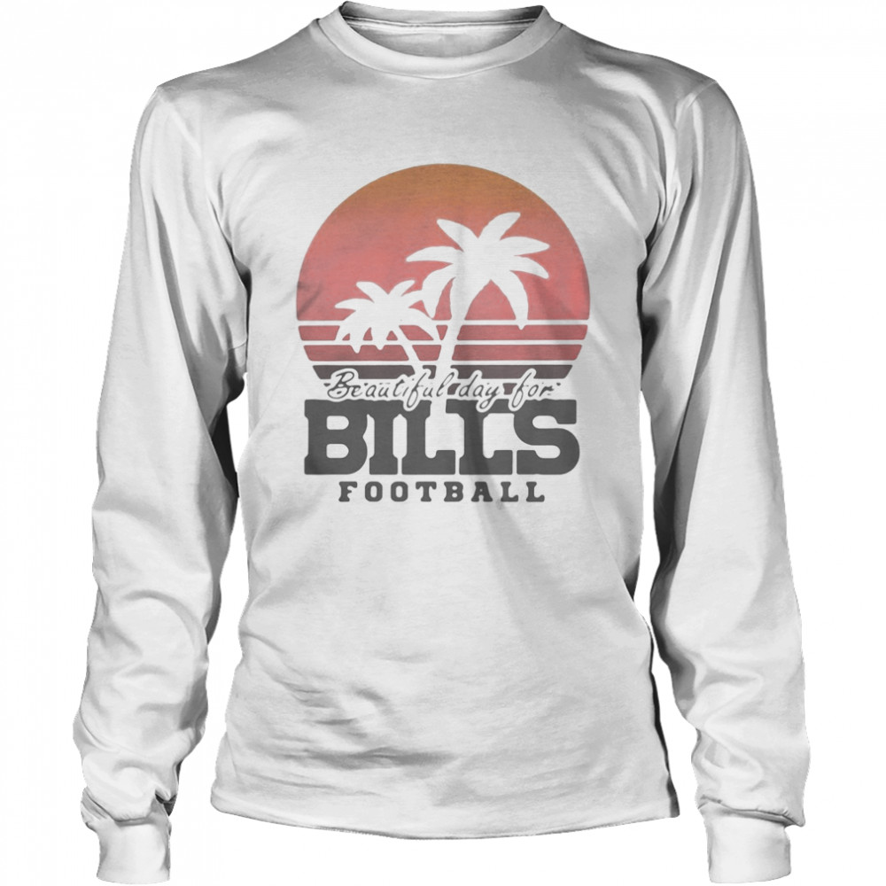 Beautiful day for bills football vintage retro  Long Sleeved T-shirt