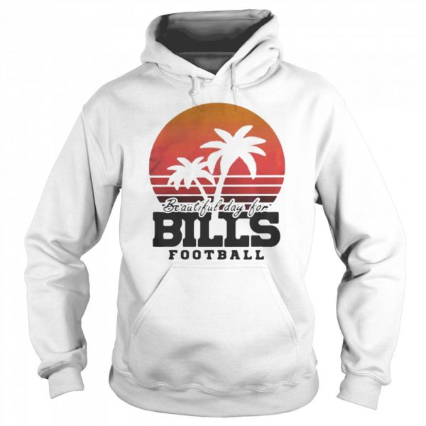 Beautiful day for bills football vintage retro  Unisex Hoodie