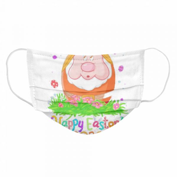 Dopey orange happy easter 2020 flowers  Cloth Face Mask