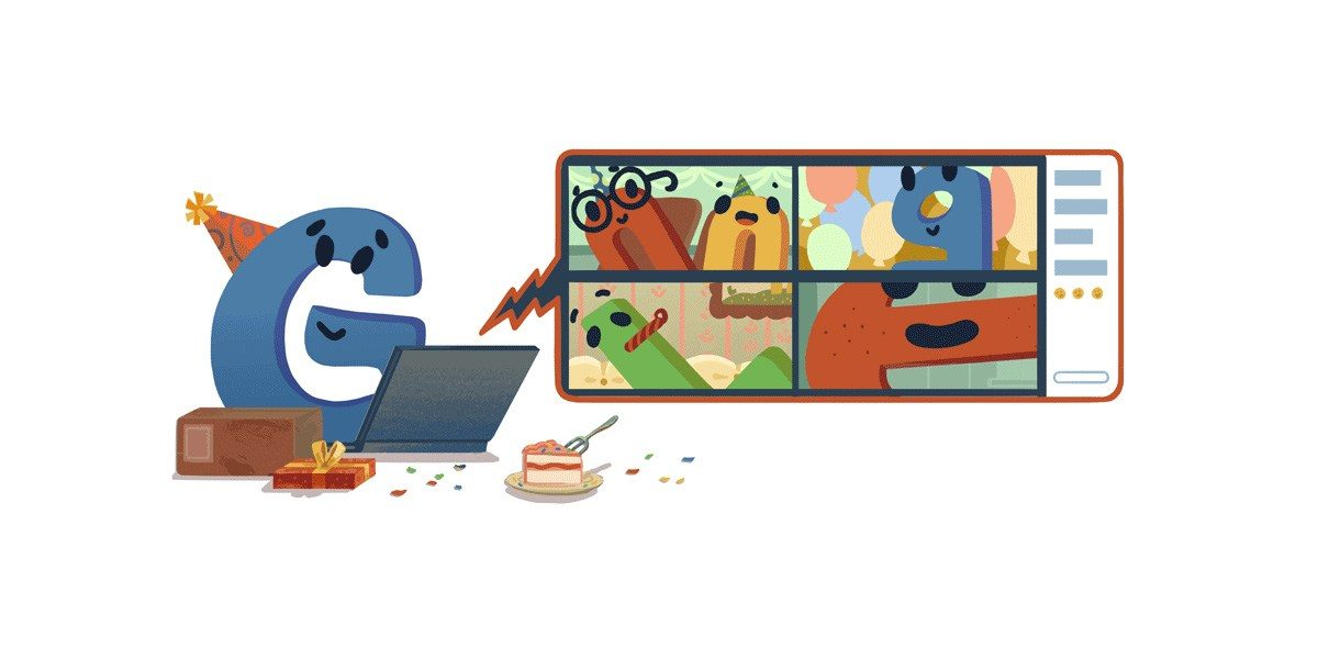 Google celebrates its 22nd birthday w homepage doodle that accurately depicts a 2020 party