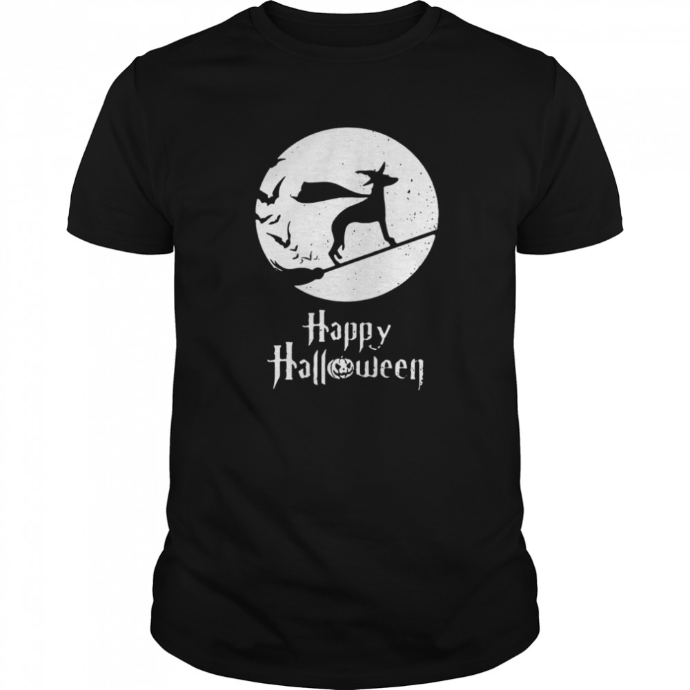 Halloween Witch Whippet Dog Lover  Classic Men's T-shirt
