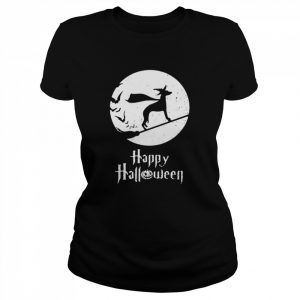 Halloween Witch Whippet Dog Lover  Classic Women's T-shirt
