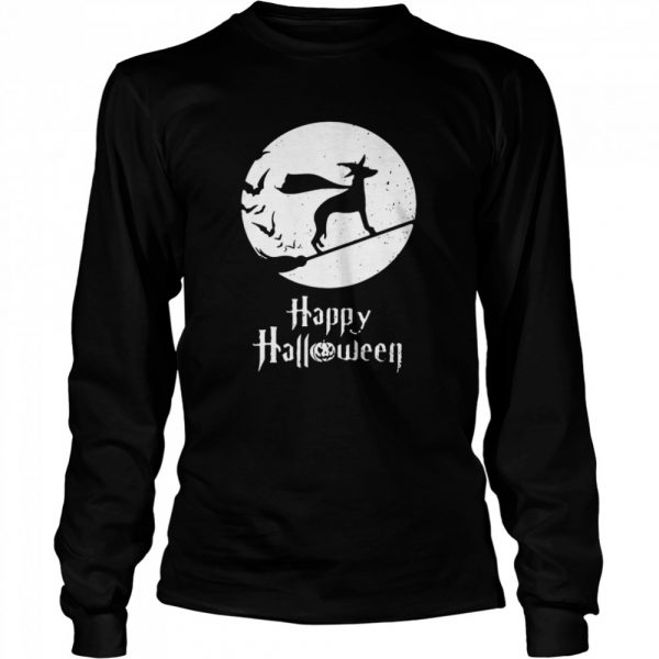 Halloween Witch Whippet Dog Lover  Long Sleeved T-shirt
