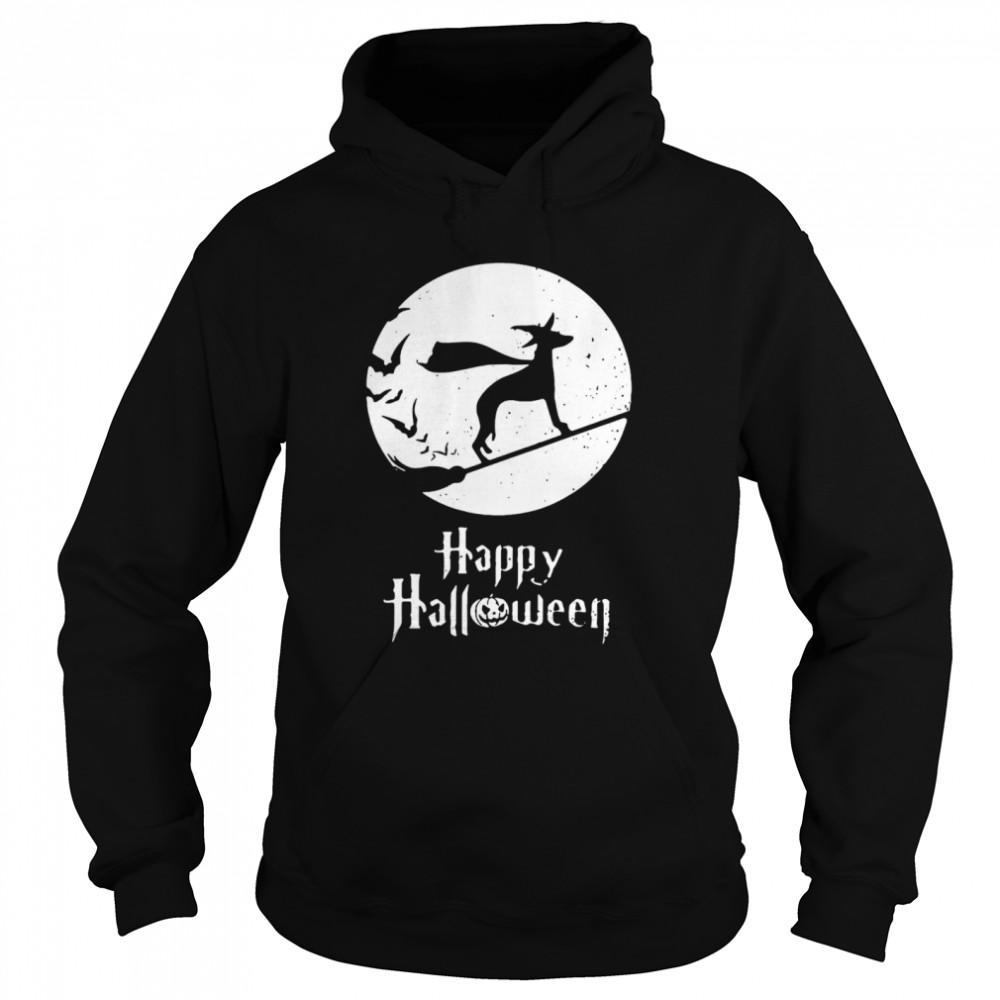 Halloween Witch Whippet Dog Lover  Unisex Hoodie