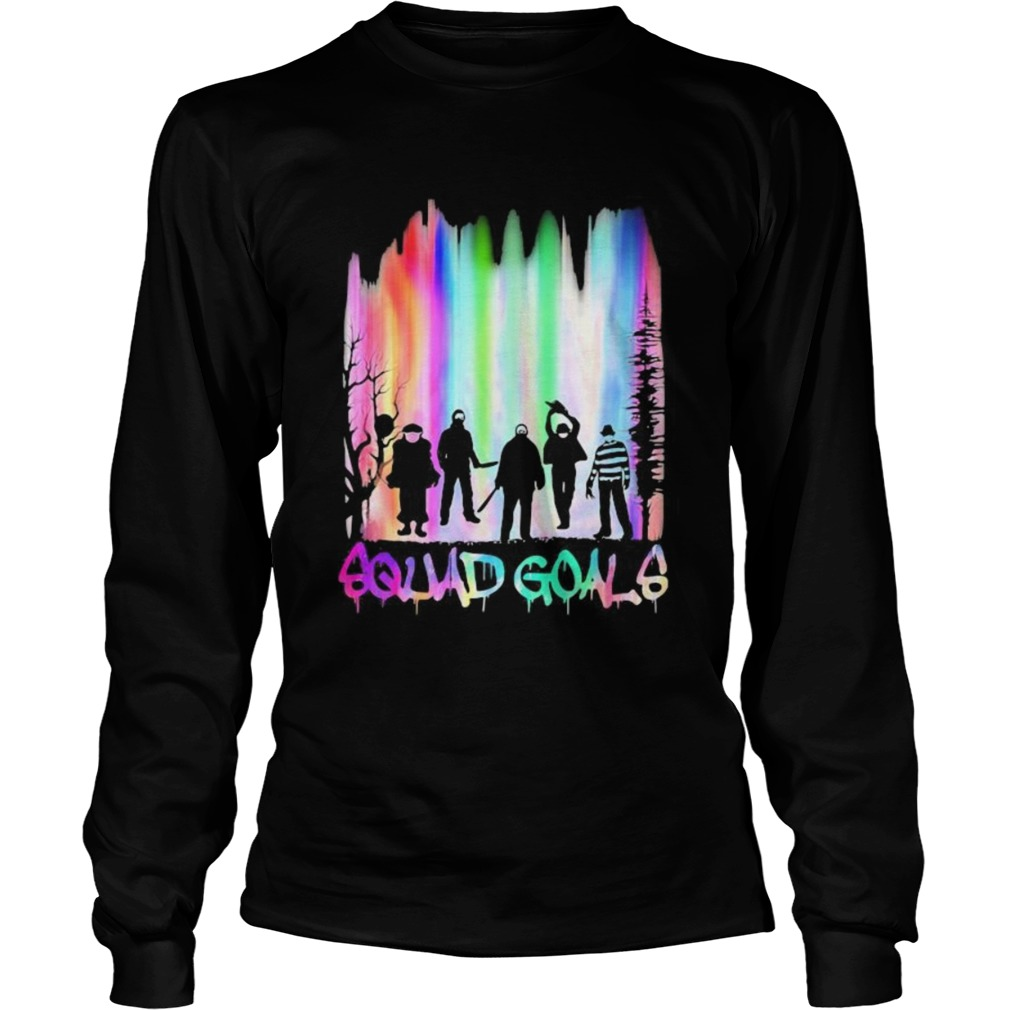 Halloween horror characters squad goals mountain  Long Sleeve