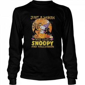 Just A Woman Who Loves Snoopy And Halloween  Long Sleeved T-shirt