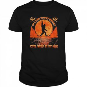 On a dark desert highway dog feel cool wind in my hair moon blood halloween  Classic Men's T-shirt