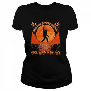 On a dark desert highway dog feel cool wind in my hair moon blood halloween  Classic Women's T-shirt