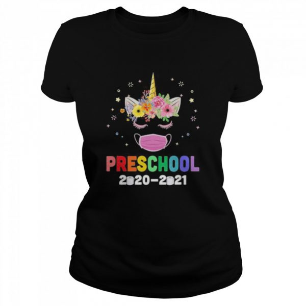 Quarantine Unicorn Hello Preschool 2020 Back To School  Classic Women's T-shirt