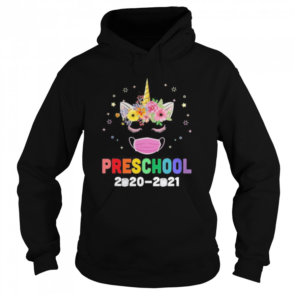 Quarantine Unicorn Hello Preschool 2020 Back To School  Unisex Hoodie