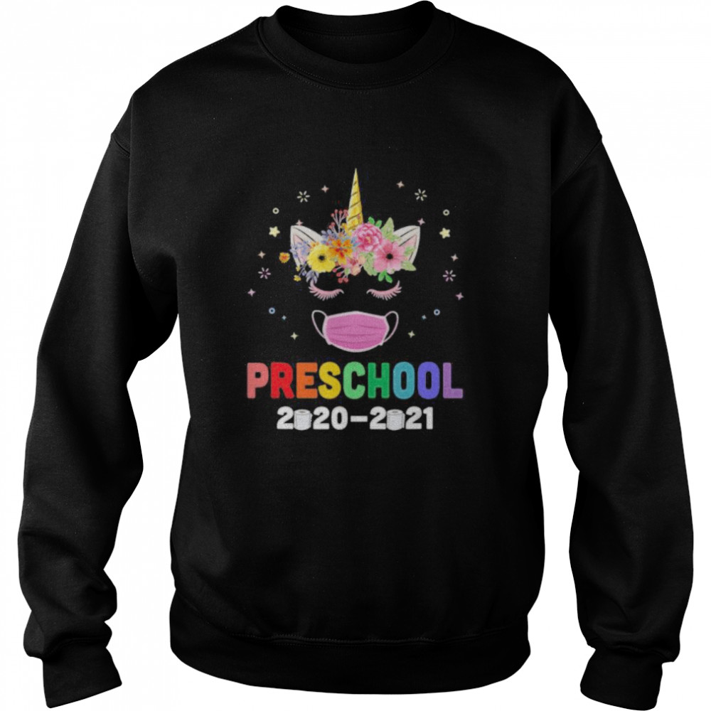 Quarantine Unicorn Hello Preschool 2020 Back To School  Unisex Sweatshirt