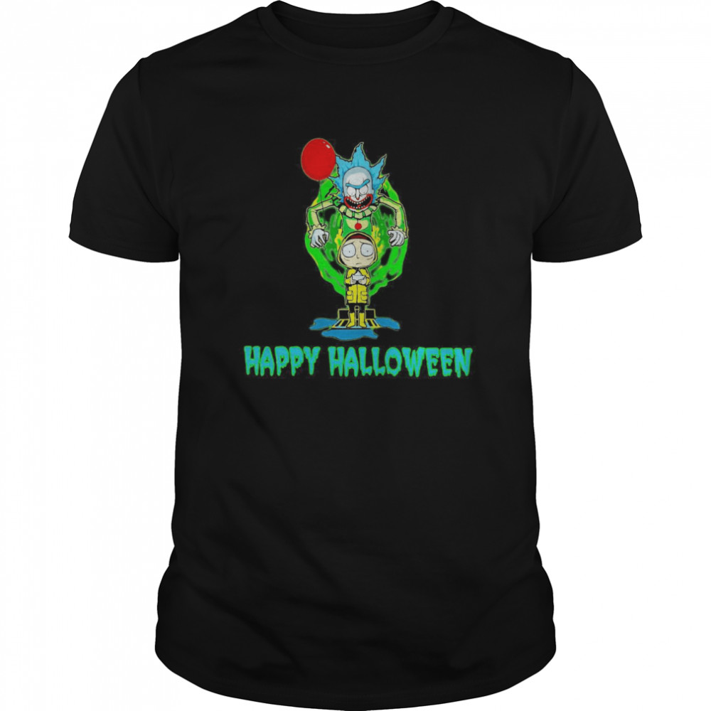 Rick and Morty Happy Halloween  Classic Men's T-shirt